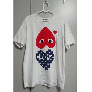 COMME des GARCONS - PLAY COMME des GARCONS Tシャツ XL