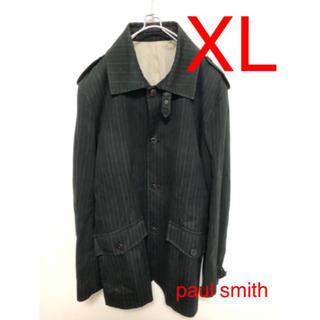 Paul Smith - paul smith トレンチ ステンカラー XL ブラック ストライプ