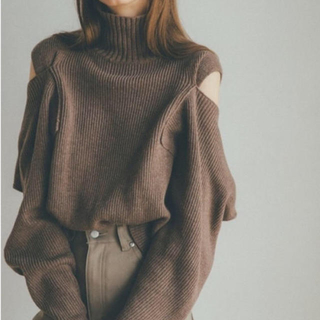 STUDIOUS - CLANE クラネ 2WAY OFF SHOULDER KNIT TOPS