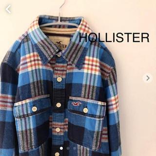 ホリスター(Hollister)のホリスター ネルシャツ   厚手 Sサイズ 長袖チェックシャツ(シャツ)