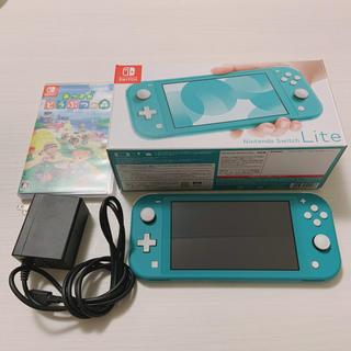 Nintendo Switch - Switch Lite ターコイズ本体&あつ森 ソフト