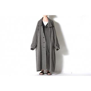ドゥルカマラ(Dulcamara)のVOAAOV Tumbler Tweed Long Coat Black (ステンカラーコート)