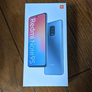 ANDROID - Xiaomi Redmi Note 9Sオーロラブルー新品未開封国内