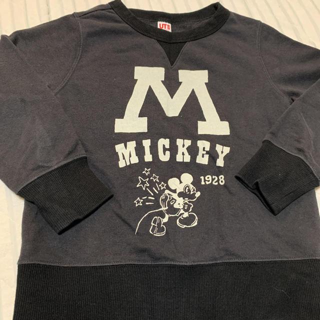 UNIQLO(ユニクロ)のUNIQLOミッキートレーナー キッズ/ベビー/マタニティのキッズ服男の子用(90cm~)(Tシャツ/カットソー)の商品写真