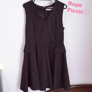 ロペピクニック(Rope' Picnic)の10/22まで値下げ♡ロペピクニック♡ジャンパースカート♡ワンピース(ひざ丈ワンピース)