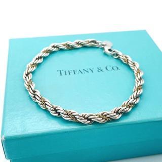 Tiffany & Co. - 希少 美品 ヴィンテージ ティファニー コンビ ブレスレット OM7