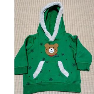 ホットビスケッツ(HOT BISCUITS)のHotBISCUITS  熊さん緑パーカー (トレーナー)