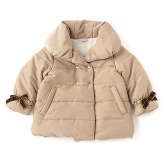 petit main - petit  main プティマイン ダブルボタン中綿コート キャメル 90