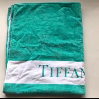 ティファニー(Tiffany & Co.)のレア✨新品 未使用 日本未発売 ティファニー大判バスタオル ✨シワありの為格安(タオル/バス用品)