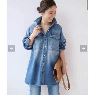 Plage - plageヘルシーデニム BLUE BIGシャツ