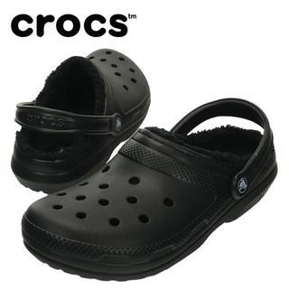 クロックス(crocs)の22cm クロックス classic lined clog ブラック ボア(サンダル)