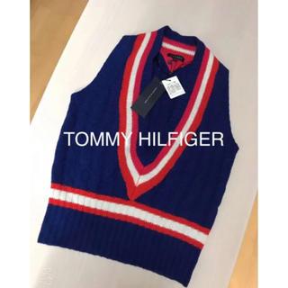 TOMMY HILFIGER - TOMMY HILFIGER♡ネイビーニットベスト 新品