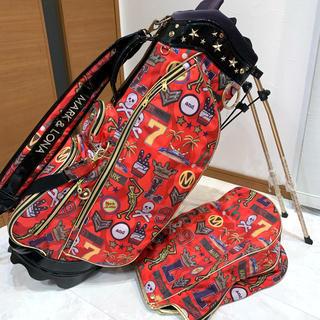 マークアンドロナ(MARK&LONA)の即完売品 マーク&ロナ スタンドキャディバッグ ドゥーポップ ユニセックス(バッグ)