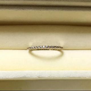CZダイヤ フルエタニティリング イエローゴールド(リング(指輪))