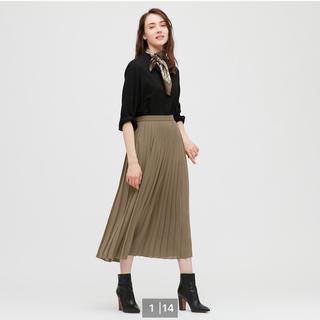 UNIQLO - UNIQLO ユニクロ シフォンプリーツロングスカート 丈標準(80〜84㎝)