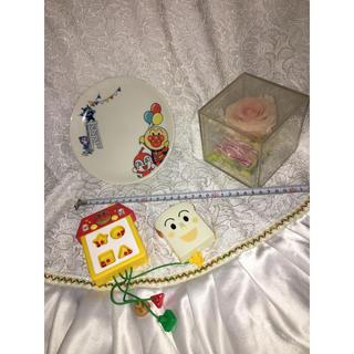 アンパンマン(アンパンマン)のアンパンマン くらぶ 非売品 プレート おもちゃ ブリザード 薔薇 BOX(キャラクターグッズ)