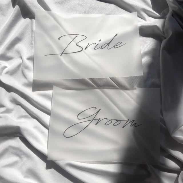受付サイン 受付カード 結婚式 ウェディング トレーシングペーパー ハンドメイドのウェディング(その他)の商品写真