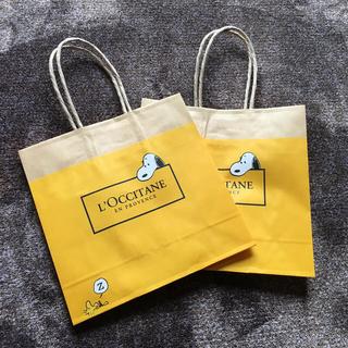 ロクシタン(L'OCCITANE)のロクシタン★スヌーピーショップバッグ2枚(ショップ袋)