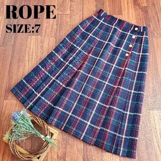 ROPE - ロペ ROPE タータンチェック ラップスカート 巻きスカート