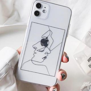 ディーホリック(dholic)のフェイスデザインクリアーiPhoneケース(iPhoneケース)