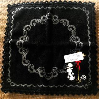 ルルギネス(LULU GUINNESS)のルルギネス新品タグつきプードル柄刺繍タオルハンカチ(ハンカチ)
