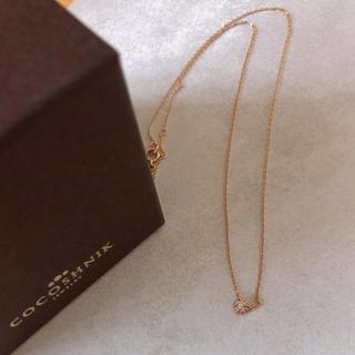 ココシュニック(COCOSHNIK)の美品人気品! 正規品 ココシュニック 一粒ダイヤ ネックレス(ネックレス)