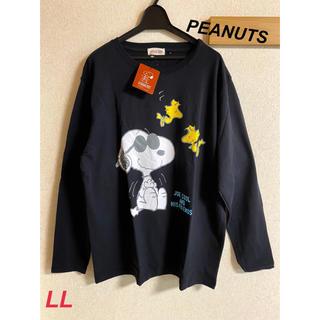 ピーナッツ(PEANUTS)の新品 メンズ PEANUTS スヌーピー ロンT ブラック LL(Tシャツ/カットソー(七分/長袖))