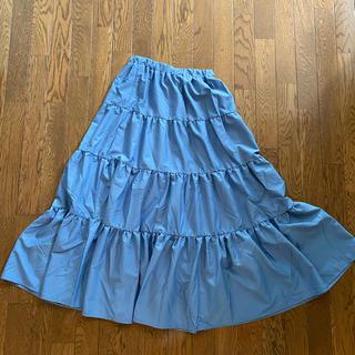 デュラス(DURAS)の新品未使用 duras デュラス ブルーロングスカート(ロングスカート)