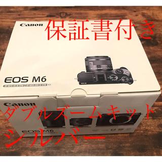 Canon - CANON EOS M6 ダブルズーム シルバー メーカー保証
