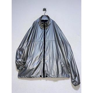 Yohji Yamamoto - 珍品 vintage シルバー 銀 ラバー ビニール ジャケット ブルゾン