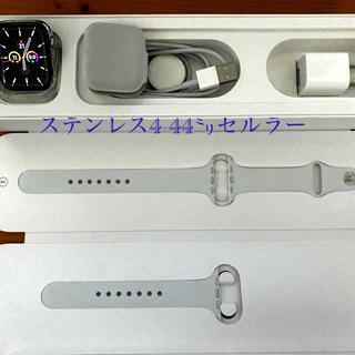 アップルウォッチ(Apple Watch)のApple  watch 4-44㍉ステンレス セルラー(腕時計(デジタル))