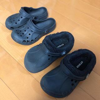 crocs - クロックス キッズ ブラック 10C11 12C13 セット