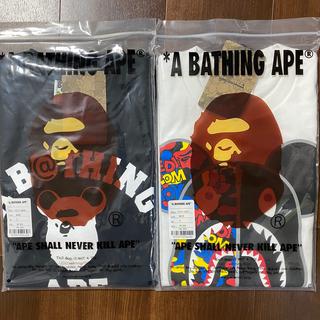 アベイシングエイプ(A BATHING APE)のBAPE X MEDICOM TOY BE@R TEE 2枚セット Sサイズ(Tシャツ/カットソー(半袖/袖なし))