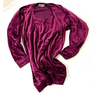 ウィーエスシー(WeSC)のWeSC ベロア トップス  ローズパープル ロング丈 サイズ メンズ XS(Tシャツ/カットソー(七分/長袖))