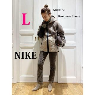 NIKE - 今期最新作 ナイキ NIKE ボアフリース×ナイロン切替キルティングパーカーL