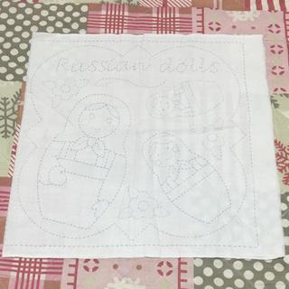フェリシモ(FELISSIMO)のフェリシモ 刺し子で作る布きん 2柄(生地/糸)