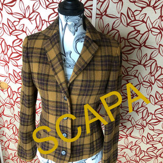 スキャパ(SCAPA)のSCAPA 毛100  ジャケット(テーラードジャケット)