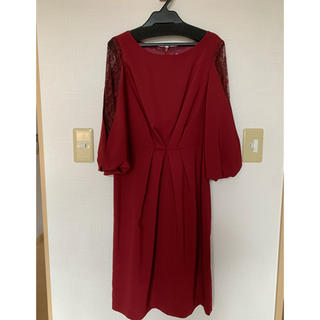 アーバンリサーチ(URBAN RESEARCH)の美品! アーバンリサーチ オケージョン ドレス 赤(ミディアムドレス)