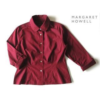 MARGARET HOWELL - マーガレットハウエル 丸襟ブラウス ラウンドカラーシャツ 2