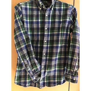 ジムフレックス(GYMPHLEX)のジムフレックス 青緑チェックシャツ ネルシャツ サイズ14 150-160センチ(ブラウス)