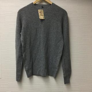 ムジルシリョウヒン(MUJI (無印良品))の無印良品 ヤクウール畦編みセーター 紳士 Sサイズ グレー MUJI(ニット/セーター)