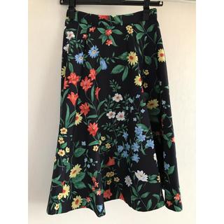 Rirandture - リランドチュール ネイビー 花柄 スカート サイズ0