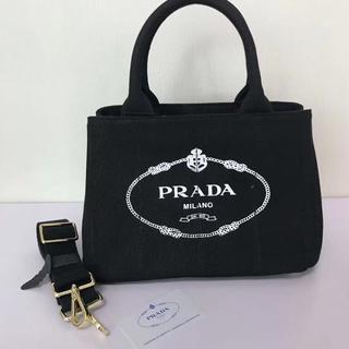 PRADA - レディース プラダ  カナパ トートバッグ 大容量 黒