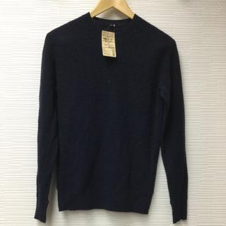 ムジルシリョウヒン(MUJI (無印良品))の無印良品 ヤクウール畦編みセーター 紳士 Sサイズ ネイビー MUJI(ニット/セーター)