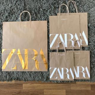 ザラ(ZARA)のZARA ショップ袋 5枚セット(ショップ袋)