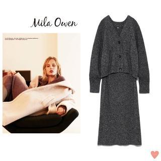 Mila Owen - VERY掲載☆ Mila Owen ニットカーディガン×スカートセットアップ