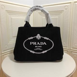 PRADA - レディース プラダ  カナパ トートバッグ 大容量 チェック 黒