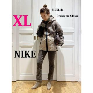 DEUXIEME CLASSE - 今期最新作 ナイキ NIKE ボアフリース×ナイロン切替キルティングパーカーXL