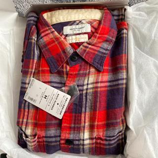 ライトオン(Right-on)のチェックシャツ、ワークワンピース(シャツ/ブラウス(長袖/七分))