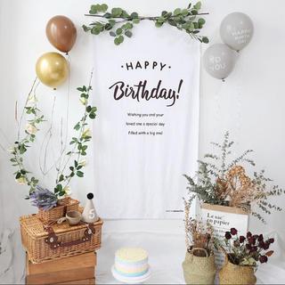 誕生日 タペストリー バースデー   飾り付け ハーフバースデー